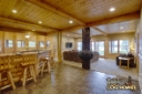 Log Home By, Golden Eagle Log Homes - Lower Level - Family Room / Bar Area