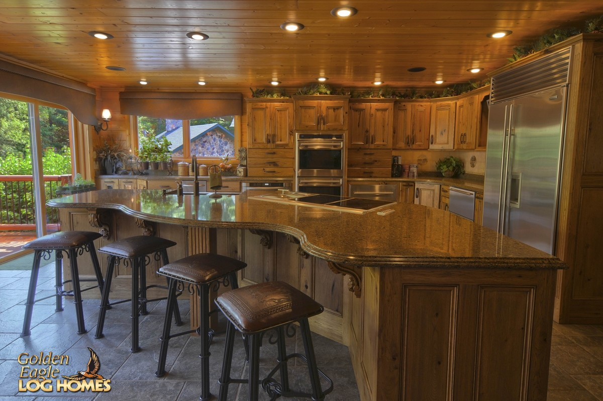 Golden Eagle Log Homes Floor Plan Details Ponderosa