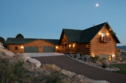 Log Home By Golden Eagle Log and Timber Homes - exterior view 7