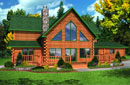American Eagle 2432AL - Log Home Floor Plan