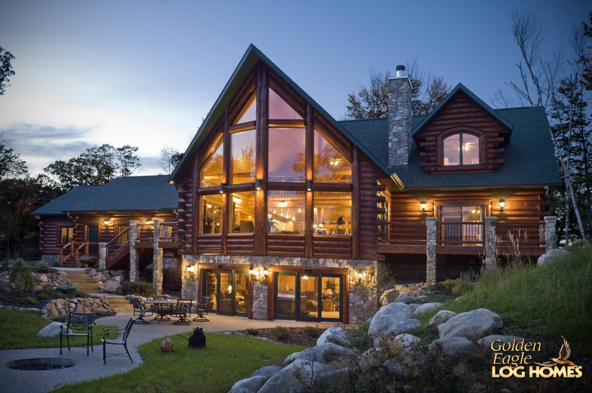 Logs Cabin Home Lake Side Exterior