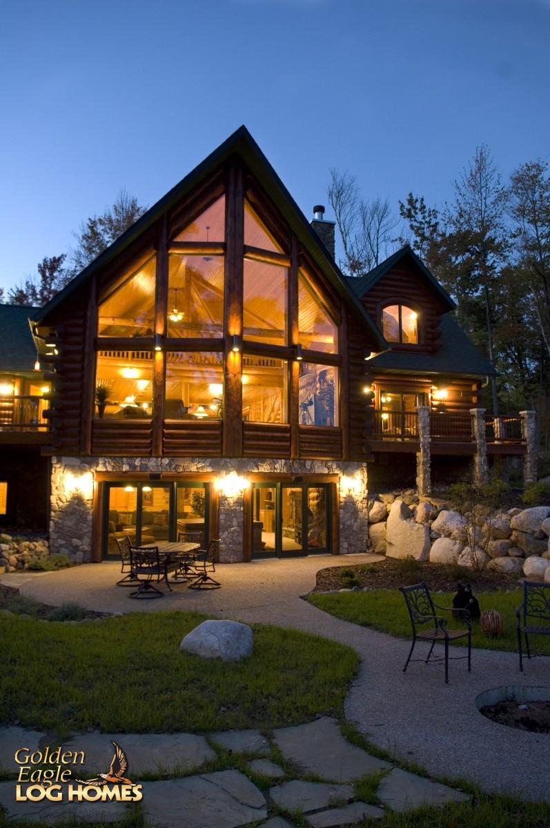Golden Eagle Log Homes Log Home Cabin Pictures Photos Lakehouse 3352AL