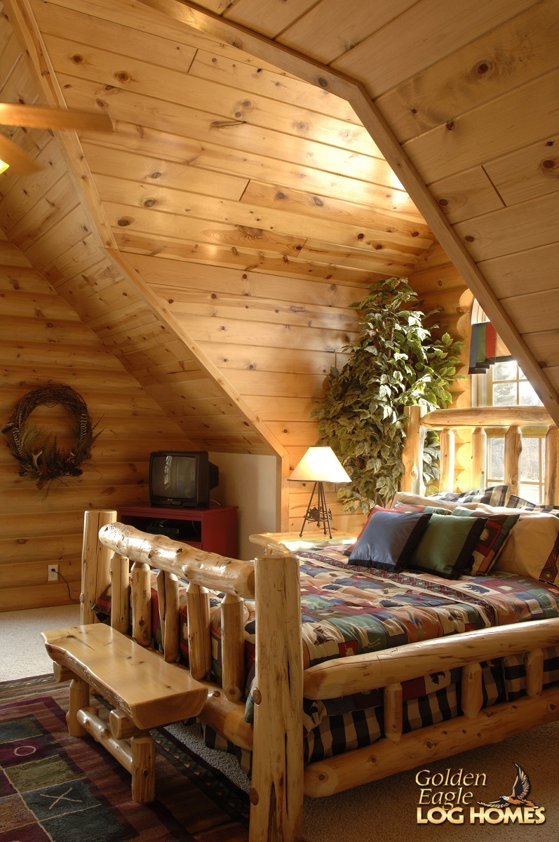 Golden eagle log homes log home cabin pictures photos for Rustic log house