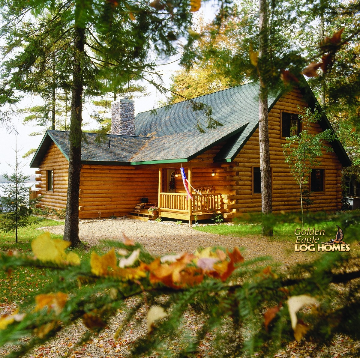 Golden eagle log and timber homes log home cabin for Complete kit homes