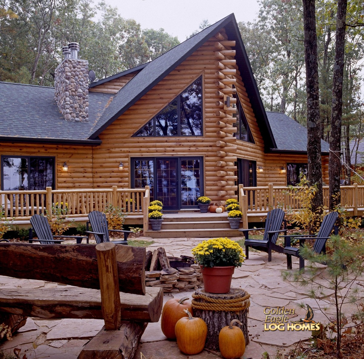 Golden Eagle Log And Timber Homes Log Home Cabin Pictures Photos Custom Eagle