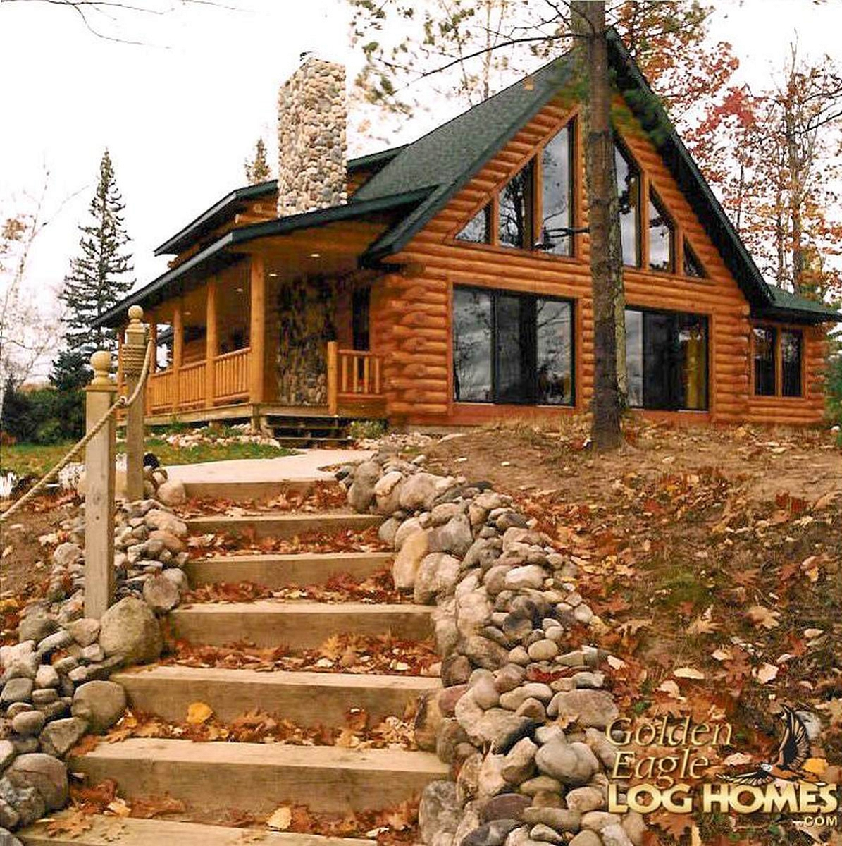 Golden eagle log and timber homes log home cabin for Cabin designs