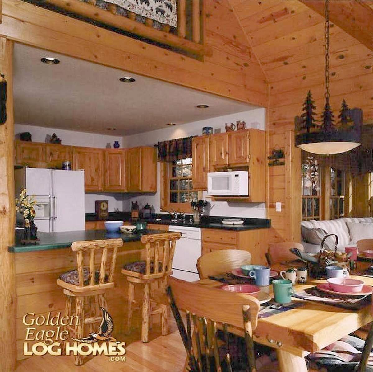 Dining Area In Kitchen: Golden Eagle Log And Timber Homes: Log Home / Cabin