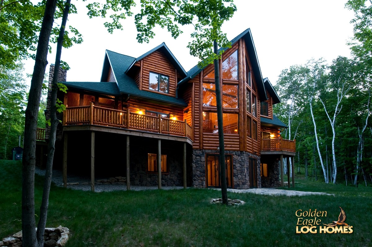 Golden Eagle Log And Timber Homes Log Home Cabin Pictures Photos Lodge 2838al