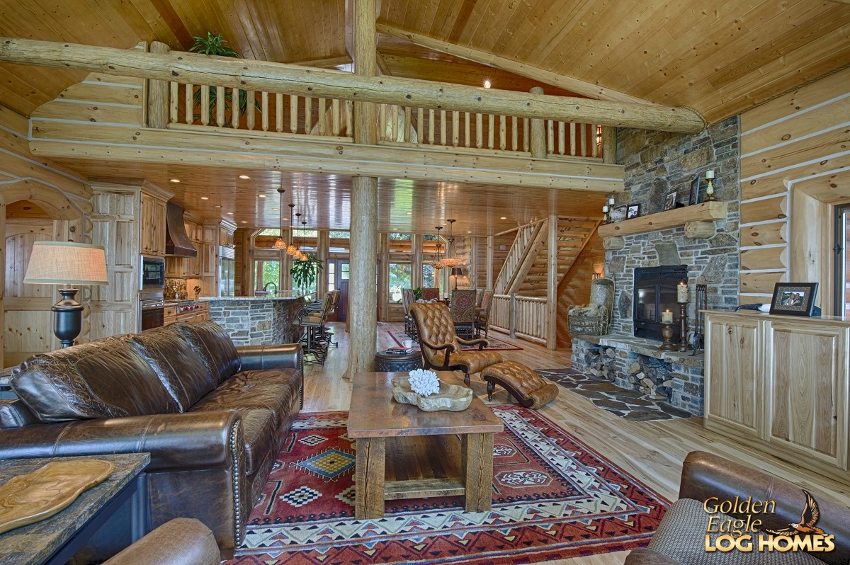Log home floor plans open concept gurus floor for Open floor plans log homes