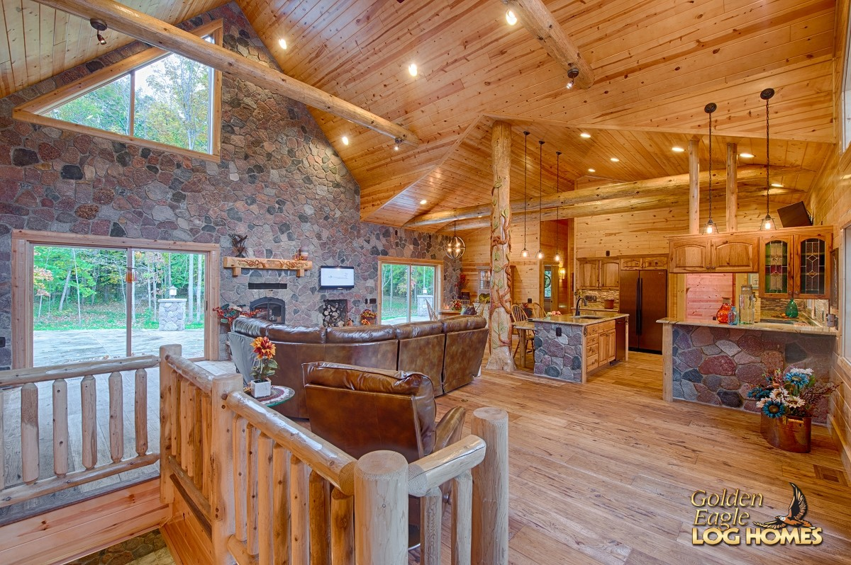 Log homes open floor plans gurus floor for Cabin floor
