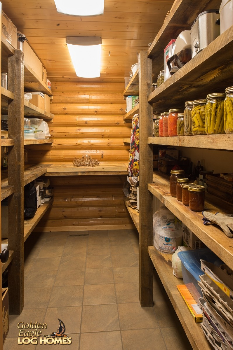 Open Shelving In The Kitchen Rustic