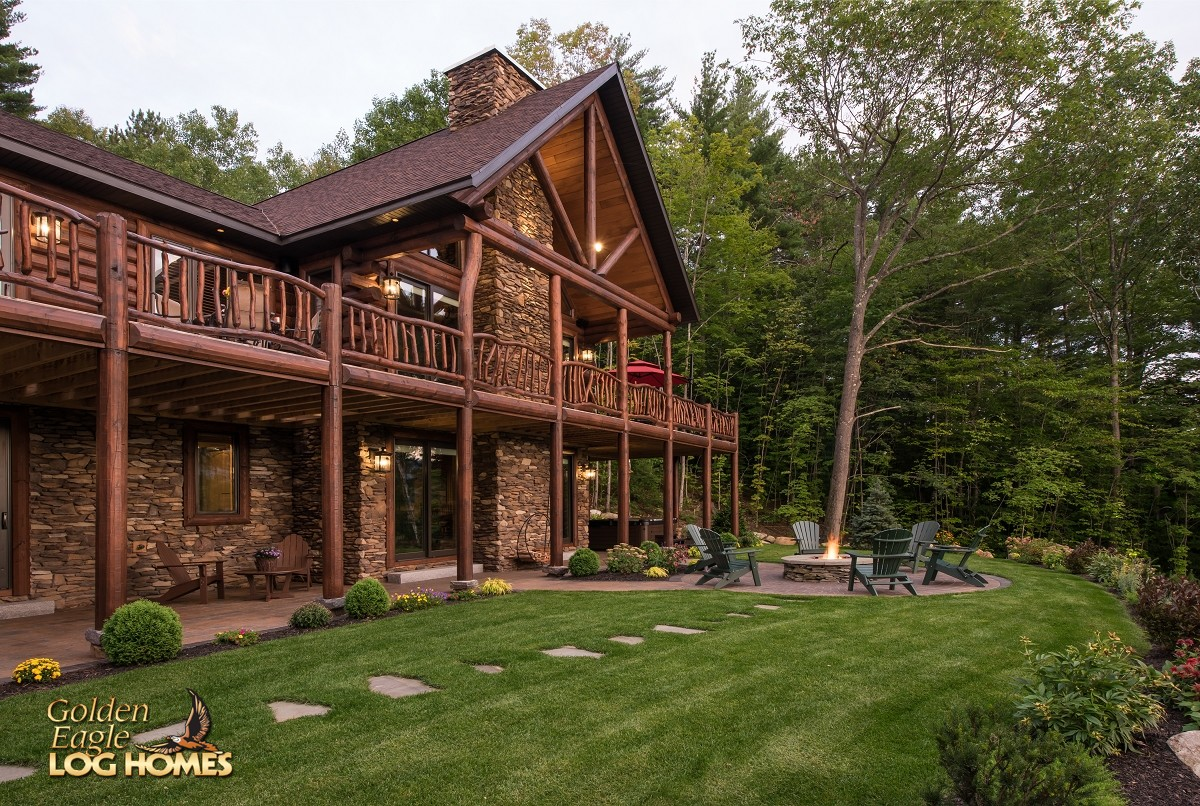 Golden eagle log and timber homes log home cabin for Home builders south carolina