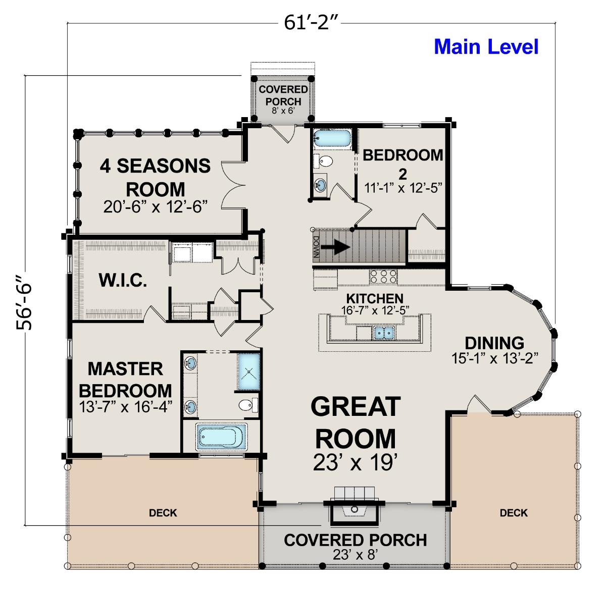 Golden eagle log and timber homes floor plan details for South carolina home plans