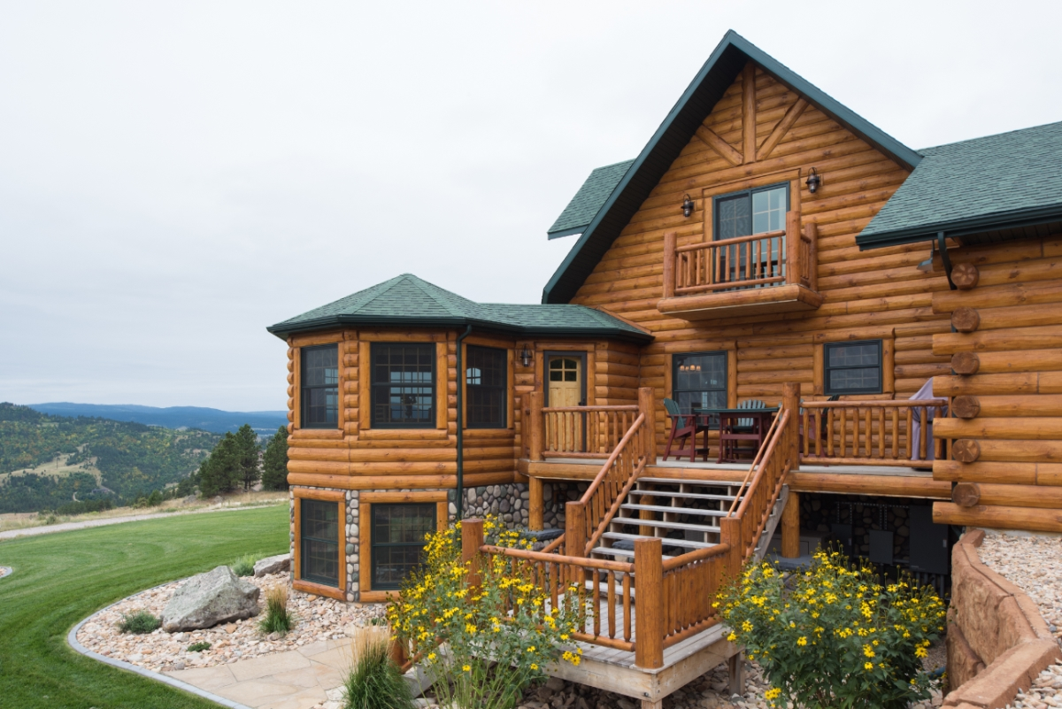 Golden eagle log and timber homes log home cabin for Country log homes
