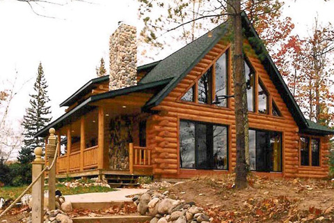 Custom Plan 2 Log Homes Photo Album