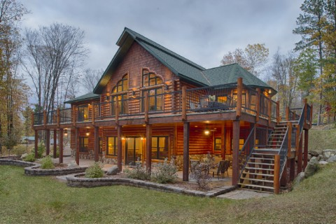 Custom Hybrid North Carolina 1861AR Log Homes Photo Album
