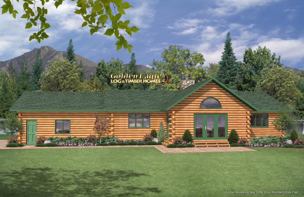 Golden Eagle Log and Timber Homes : Plans & Pricing : Plan ... on country house plans ranch, contemporary house plans ranch, a-frame house plans ranch, lakefront house plans ranch, small house plans ranch, split level house plans ranch, traditional house plans ranch,