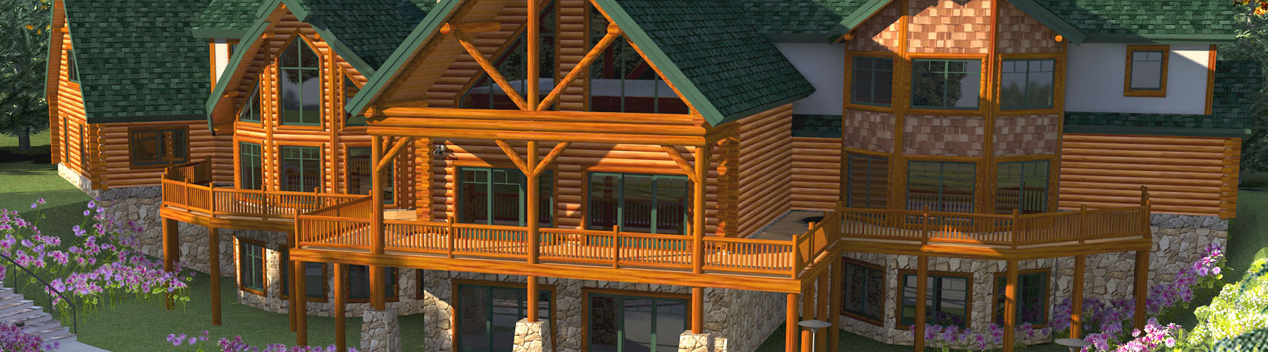 Log Mansion 12865A Lofted