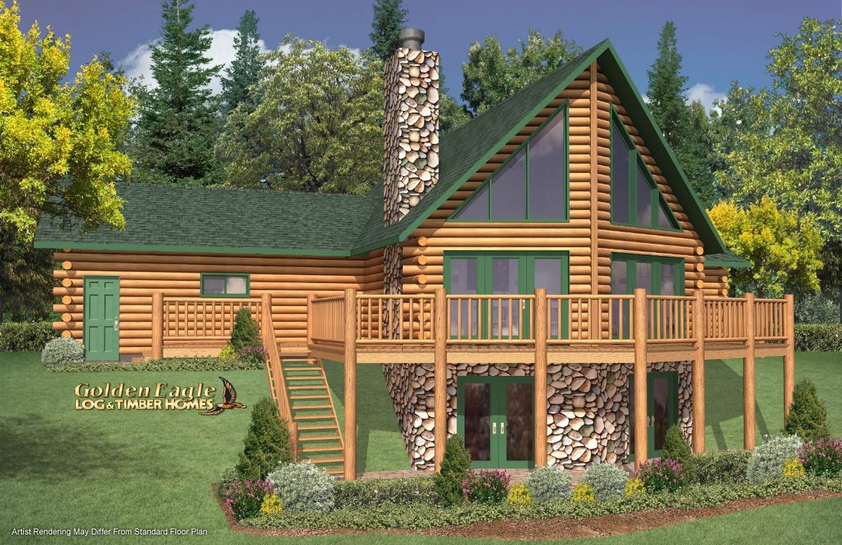 Exterior: Golden Eagle Log And Timber Homes : Plans & Pricing : Plan