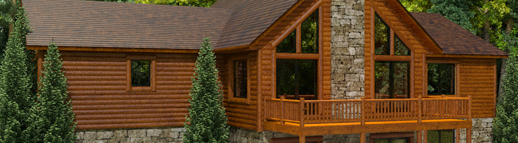 Perfect Log Cabin 1572AR - Ranch