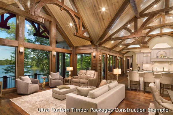 Golden Eagle Log and Timber Homes : Complete Packages & Kits