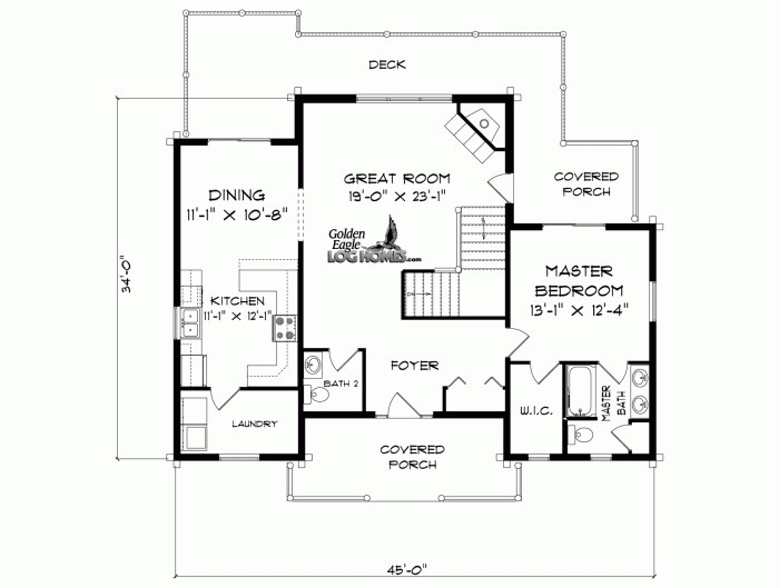 Golden Eagle Log And Timber Homes Floor Plan Details Brookside