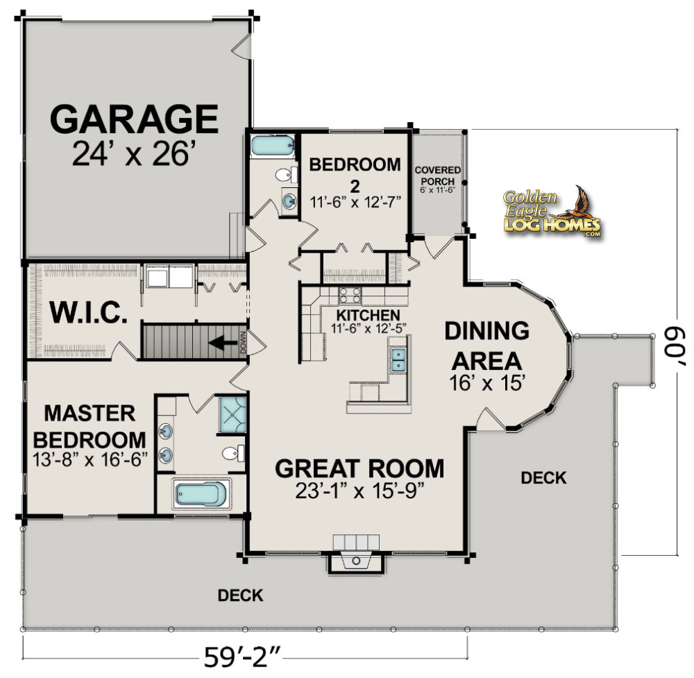 Golden eagle log and timber homes floor plan details House plans nc