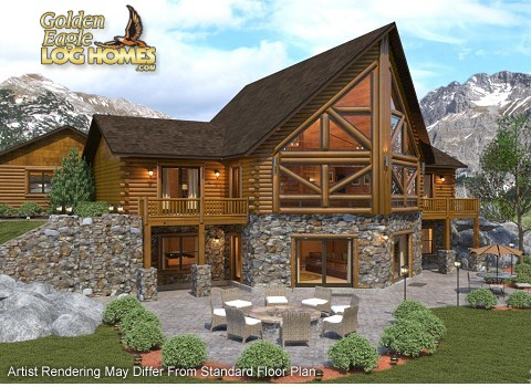 Log home floor plans with walkout basement home desain 2018 for Prow home plans