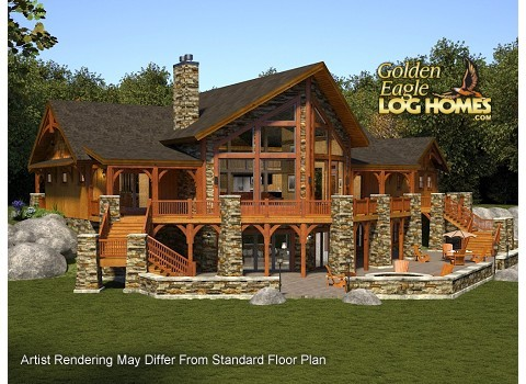 Log homes and log home floor plans cabins by golden eagle for Epic house plans