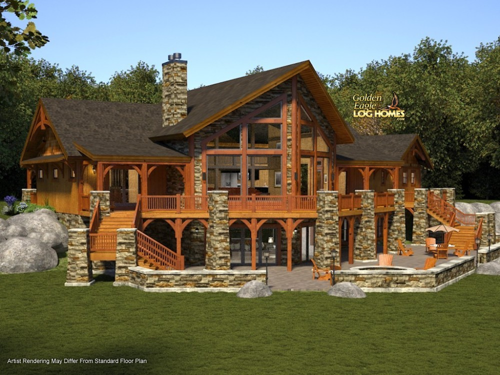 Luxury Log Home Plans Designs