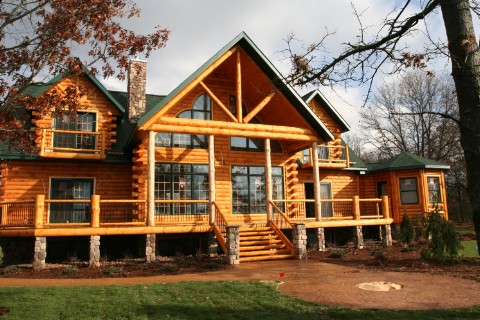 Golden eagle log homes log home cabin photos pictures Country log home