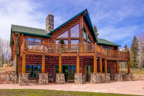 Golden eagle log and timber homes log home cabin photos for Prow home plans